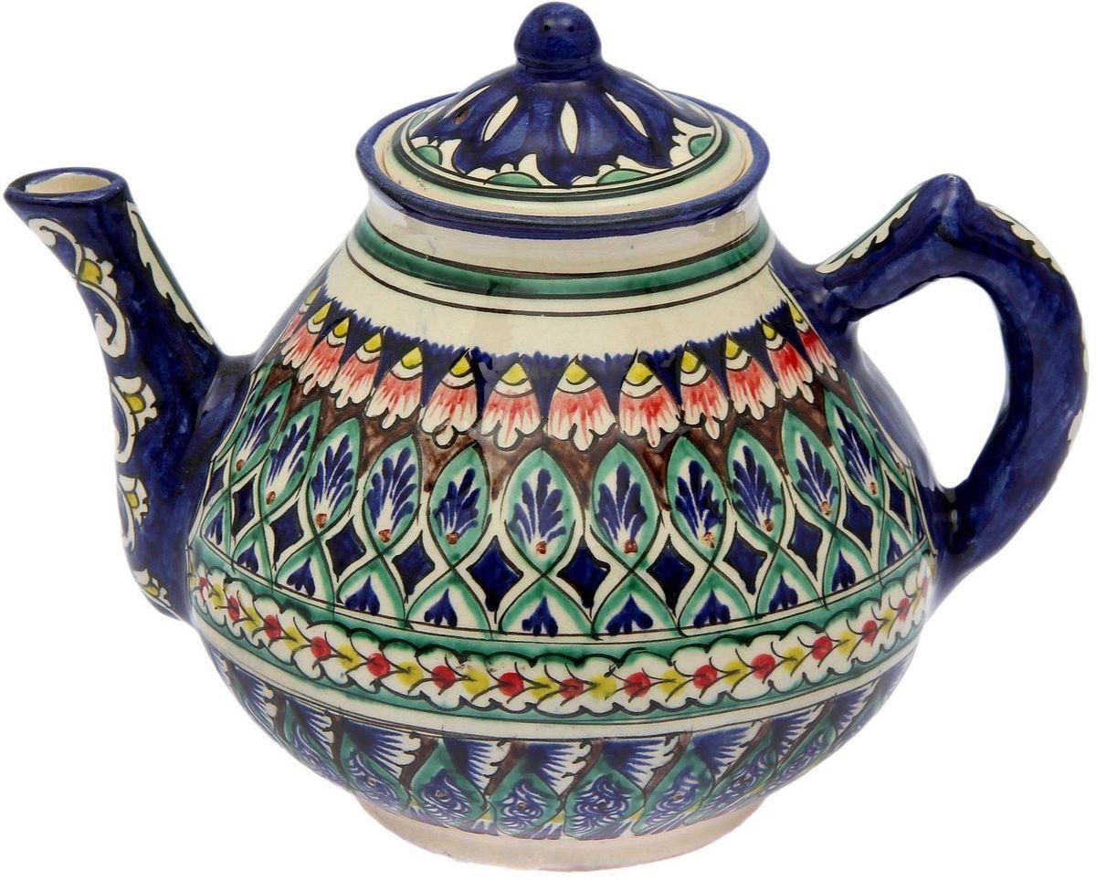 Чайник заварочный Риштанская керамика, 2 л. 21580092158009Узбекская посуда известна всему миру уже более тысячи лет. Ей любовались царские особы, на ней подавали еду шейхам и знатным персонам. Формула глазури передаётся из поколения в поколение. По сей день качественные изделия продолжают восхищать своей идеальной формой.Данный предмет подойдёт для повседневной и праздничной сервировки. Дополните стол текстилем и салфетками в тон, чтобы получить элегантное убранство с яркими акцентами.