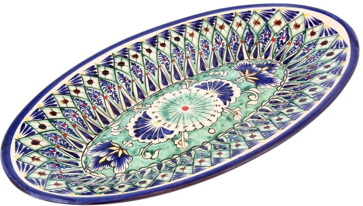 Ляган Риштанская керамика, 35 х 22 см2331219Ляган — это не просто обеденный атрибут, это украшение стола. Посуда с национальной росписью станет отменным подарком для ценителей высокородной посуды.Риштан — город на востоке Узбекистана, один из древнейших в Ферганской долине. С давних времён Риштан славится своим гончарным искусством изготовления цветной керамики. Красноватую глину для изделия добывают в самом городе. Мастера утверждают, что их глина настолько высокого качества, что даже не нуждается в предварительной обработке. Дополните коллекцию кухонных аксессуаров пряными восточными нотами.