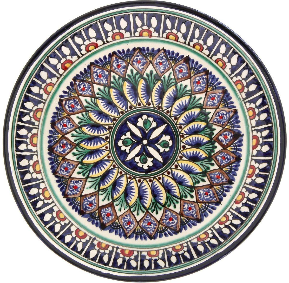 Тарелка глубокая Риштанская керамика Оддий, диаметр 25 см2556865Узбекская посуда известна всему миру уже более тысячи лет. Ей любовались царские особы, на ней подавали еду шейхам и знатным персонам. Формула глазури передаётся из поколения в поколение. По сей день качественные изделия продолжают восхищать своей идеальной формой.Данный предмет подойдёт для повседневной и праздничной сервировки. Дополните стол текстилем и салфетками в тон, чтобы получить элегантное убранство с яркими акцентами.
