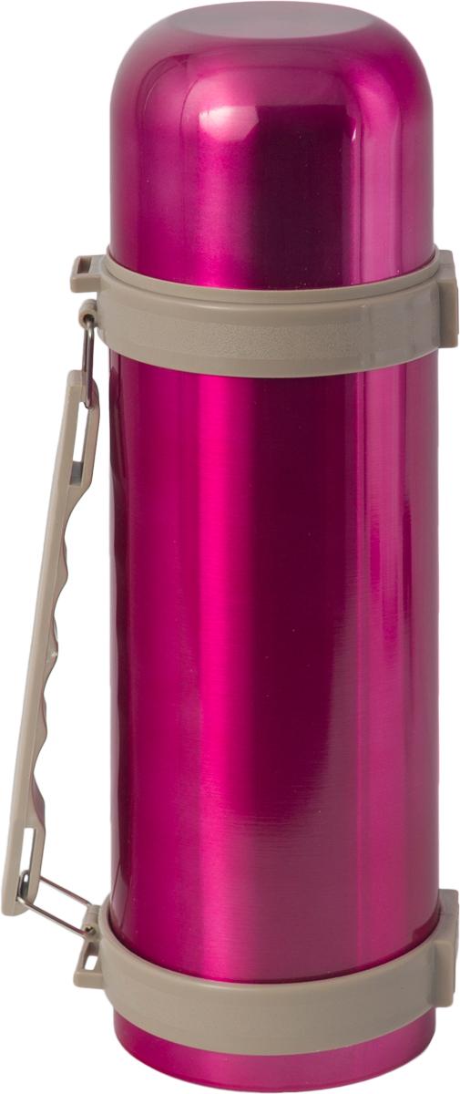 Термос Indiana H003, цвет: фуксия, бежевый, 1,2 л320400032Термос Indiana H003, выполненный из пластика и нержавеющей стали, позволяет сохранять напитки горячими и холодными длительное время. Термос надежно закрывается пластиковой пробкой, которая снабжена кнопкой для дозирования напитков, позволяющая наливать жидкости без отвинчивания. Эргономичная подвижная ручка делает использование термоса легким и удобным.Термос Indiana H003 отлично подойдет для хранения и транспортировки жидкостей.