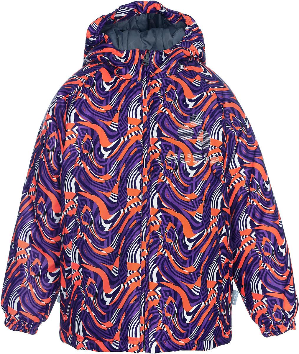 Куртка детская Huppa Classy, цвет: пурпурный. 17710030-483. Размер 11617710030-483Детская куртка Huppa изготовлена из водонепроницаемого полиэстера. Куртка с капюшоном застегивается на пластиковую застежку-молнию с защитой подбородка. Края капюшона и рукавов собраны на внутренние резинки. У модели имеются два врезных кармана. Изделие дополнено светоотражающими элементами.