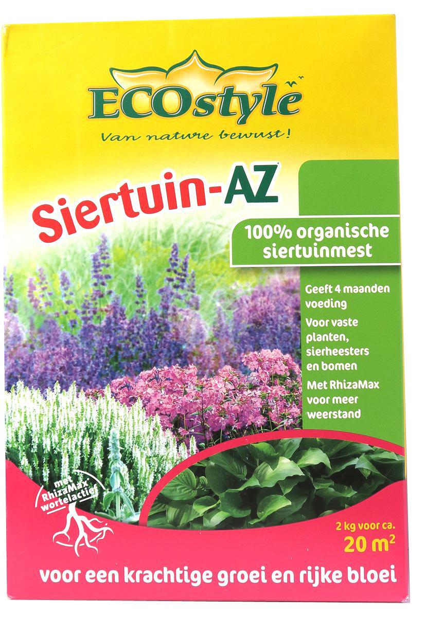 """Удобрение """"EcoStyle"""" - 100% натуральное универсальное органическое удобрение класса «премиум», в котором содержание основных макро- и микроэлементов оптимально для большинства садовых и сельскохозяйственных культур. Разработано для профессионального применения, отвечает самым жёстким требованиям к экологической безопасности. Содержит смесь почвенных микроорганизмов (бактерий и грибов), обеспечивающих удобрению высокую эффективность.Свойства удобрения:Обладает быстрым и длительным действием, полностью обеспечивает растения питанием в течение 4-х месяцев;Активирует биологические процессы в почве и улучшает её физическую структуру - способствует образованию пор, доступу воздуха, воды и питательных веществ;Защищает растения от фитопатогенов, способствует разложению токсических веществ в почве;Не вымывается из почвы после дождей, не разрушается от холода;Использование «Сиртаюн-АЗет» улучшает экологию почв и выращиваемой продукции.Удобрение «Сиртаюн-АЗет» изготавливается из высококачественного сырья естественного происхождения. Не содержит генетически-модифицированных ингредиентов и микроорганизмов."""