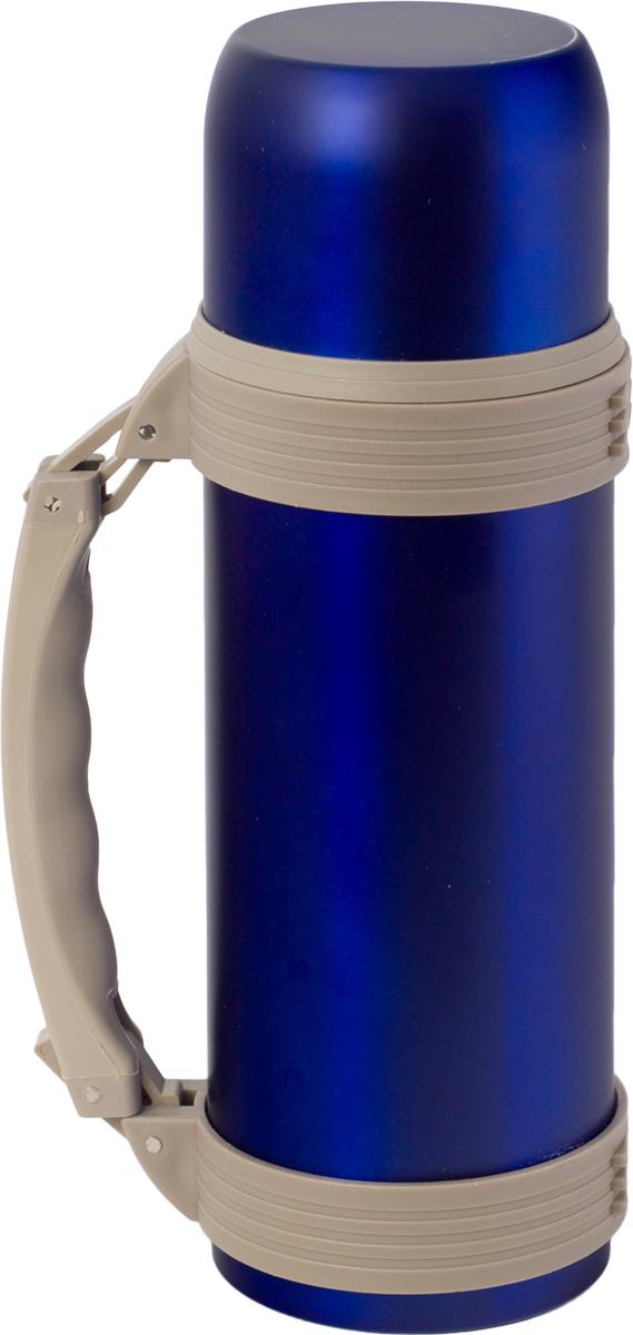 Термос Indiana WD 3605, со складной ручкой, цвет: синий, бежевый, 1,2 л320400036Термос Indiana WD 3605, выполненный из нержавеющей стали и пластика, позволяет сохранять напитки горячими и холодными длительное время. Термос надежно закрывается пластиковой пробкой, которая снабжена кнопкой для дозирования напитков, позволяющая наливать жидкости без отвинчивания. Прочная эргономичная складная ручка делает использование термоса легким и удобным.Термос Indiana WD 3605 отлично подойдет для хранения и транспортировки жидкостей.