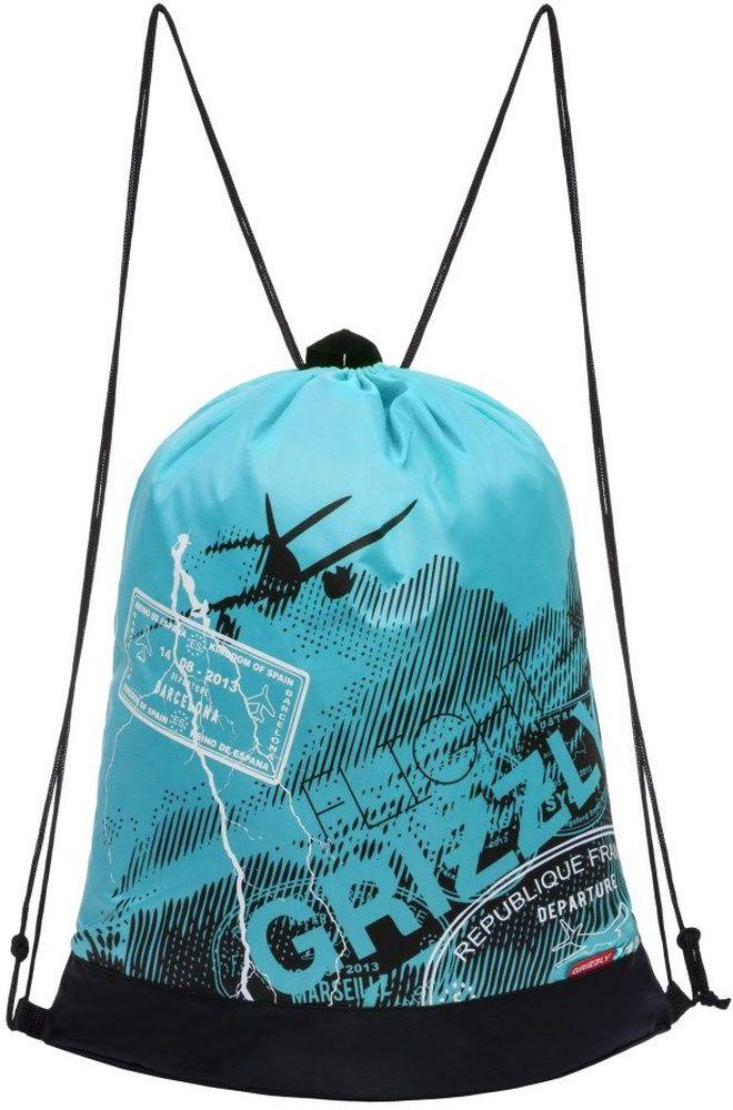 Grizzly Мешок для обуви цвет бирюзовый OM-790-5OM-790-5/4Мешок для сменной обуви Grizzly идеально подойдет как для хранения, так и для переноски сменной обуви и одежды.Мешок выполнен из прочного материала и содержит одно вместительное отделение, затягивающееся с помощью текстильных шнурков. Изделие содержит боковой карман, который застегивается на застежку-молнию. Сверху мешок дополнен петлей для подвешивания.Вашему ребенку обязательно пригодится такой аксессуар для школы!