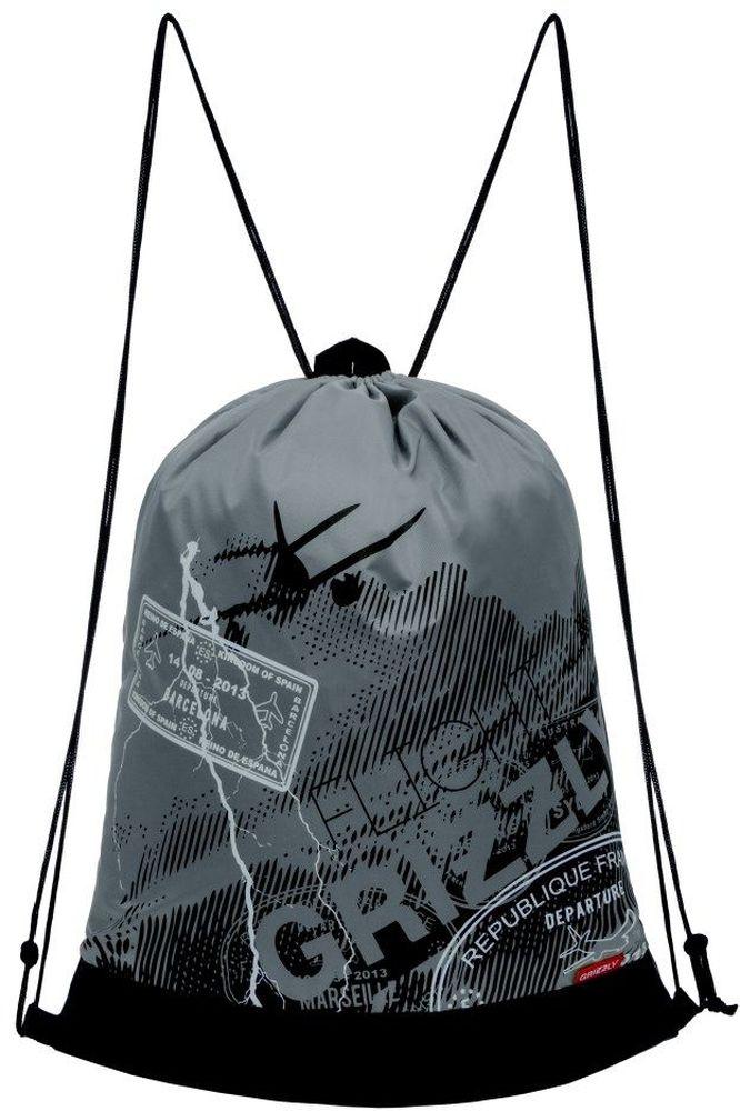 Grizzly Мешок для обуви цвет серый OM-790-5OM-790-5/3Мешок для сменной обуви Grizzly идеально подойдет как для хранения, так и для переноски сменной обуви и одежды.Мешок выполнен из прочного материала и содержит одно вместительное отделение, затягивающееся с помощью текстильных шнурков. Изделие содержит боковой карман, который застегивается на застежку-молнию. Сверху мешок дополнен петлей для подвешивания.Вашему ребенку обязательно пригодится такой аксессуар для школы!