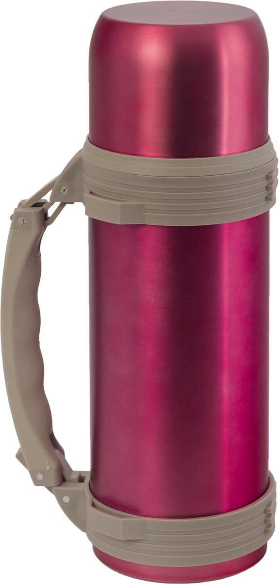 Термос Indiana WD 3605, со складной ручкой, цвет: фуксия, 1,2 л320400018Термос Indiana WD 3605, выполненный из нержавеющей стали и пластика, позволяет сохранять напитки горячими и холодными длительное время. Термос надежно закрывается пластиковой пробкой, которая снабжена кнопкой для дозирования напитков, позволяющая наливать жидкости без отвинчивания. Прочная эргономичная складная ручка делает использование термоса легким и удобным.Термос Indiana WD 3605 отлично подойдет для хранения и транспортировки жидкостей.