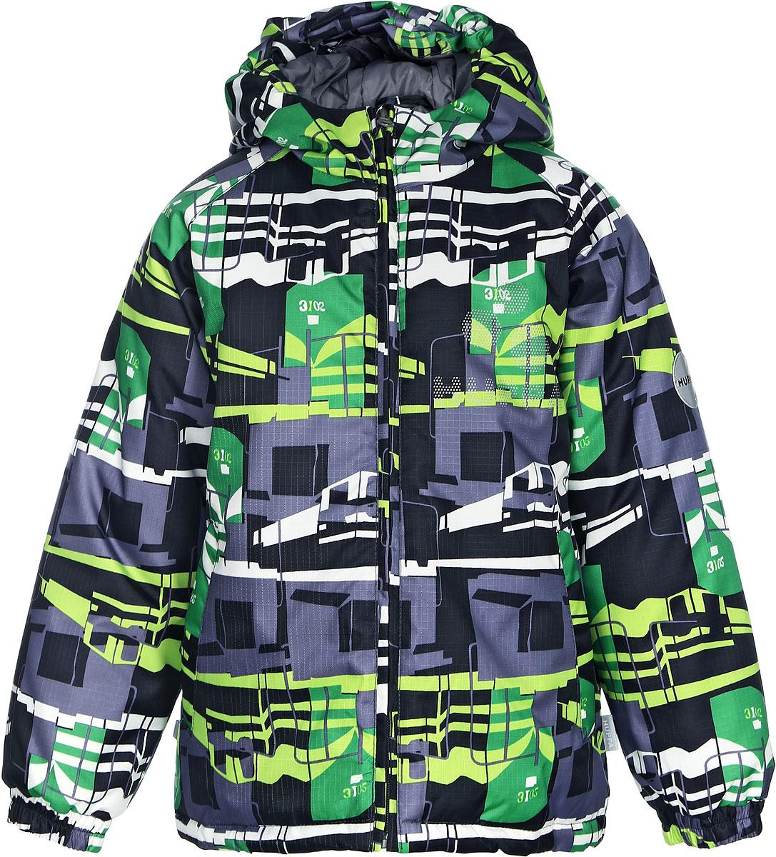Куртка детская Huppa Classy, цвет: темно-серый. 17710030-818. Размер 11617710030-818Детская куртка Huppa изготовлена из водонепроницаемого полиэстера. Куртка с капюшоном застегивается на пластиковую застежку-молнию с защитой подбородка. Края капюшона и рукавов собраны на внутренние резинки. У модели имеются два врезных кармана. Изделие дополнено светоотражающими элементами.