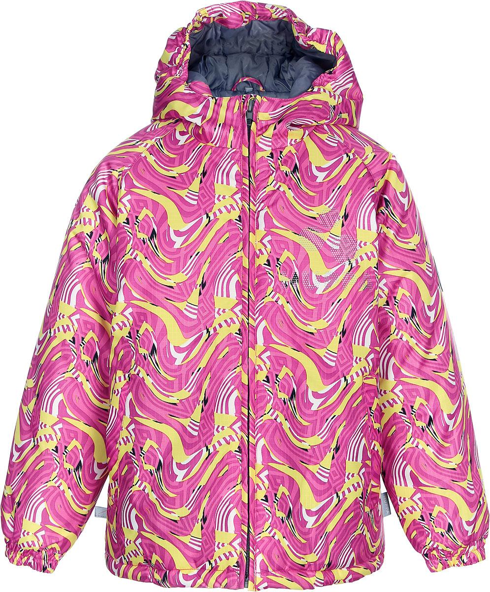 Куртка для девочки Huppa Classy, цвет: фуксия. 17710030-463. Размер 11617710030-463Куртка для девочки Huppa изготовлена из водонепроницаемого полиэстера. Куртка с капюшоном застегивается на пластиковую застежку-молнию с защитой подбородка. Края капюшона и рукавов собраны на внутренние резинки. У модели имеются два врезных кармана. Изделие дополнено светоотражающими элементами.