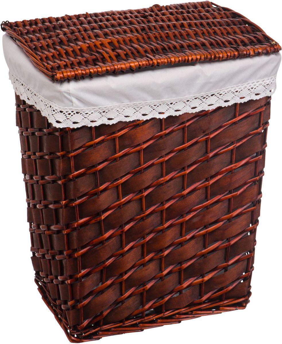 Корзина для белья Natural House, 42 х 32 х 52 смLU-06B-LПлетеная бельевая корзина Natural House прямоугольной формы с крышкой. Оснащена съемным чехлом из ткани, который легко стирается. Поверхность корзины обработана водоотталкивающим покрытием, пройдена санитарная антибактериальная обработка. Подойдет для помещений с повышенным уровнем влажности.Материал изготовления корзины: лоза ивы, деревянная щепа, ткань.