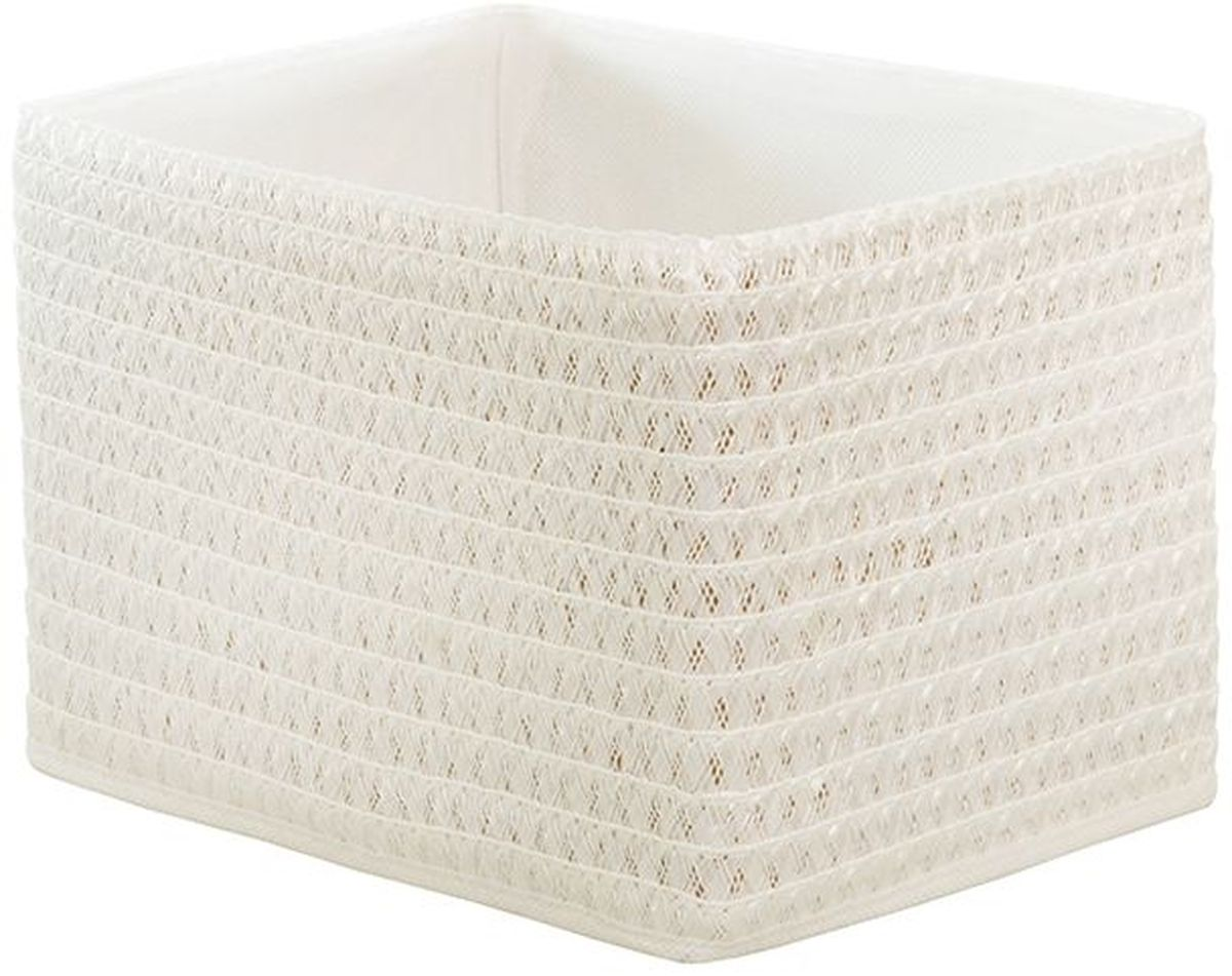 Короб для хранения Handy Home, складной, без крышки, цвет: белый, 25 х 19 х 17 см