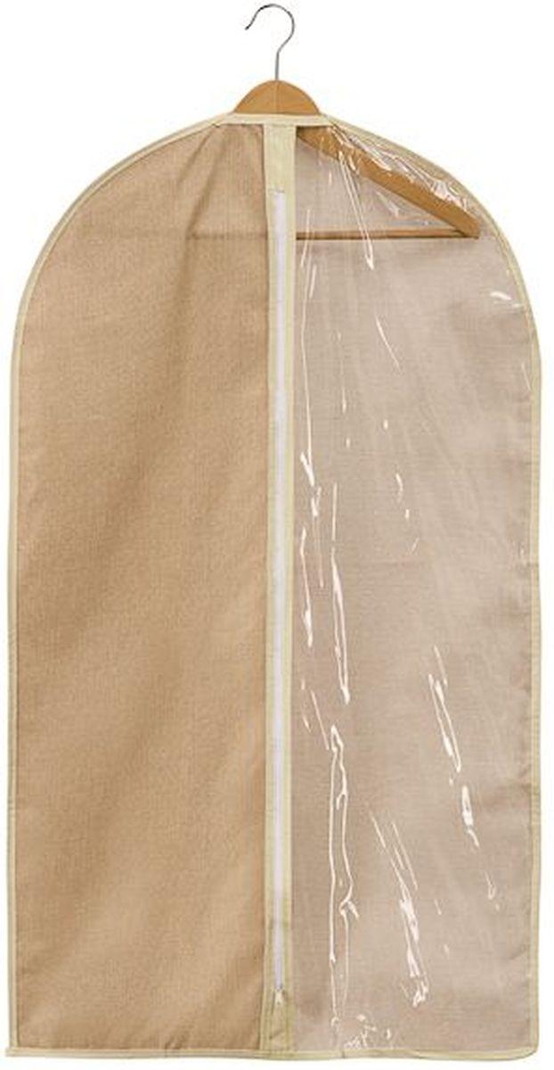 Чехол для одежды Handy Home Лен, цвет: бежевый, 60 х 100 смUC-25Чехол для хранения и перевозки одежды Handy Home Лен изготовлен из нетканого дышащего материала, который препятствует попаданию пыли, влаги, запахов и грязи, при этом сохраняя вентиляцию так необходимую для бережного хранения одежды. А также создает порядок в шкафу и просто радует глаз.Размер: 60 х 100 см.