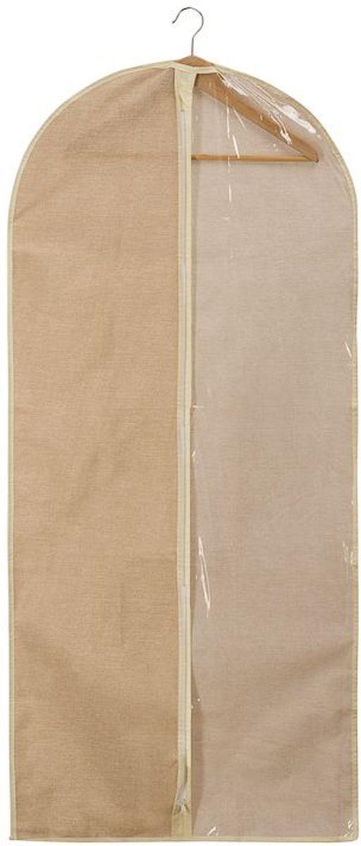 Чехол для одежды Handy Home Лен, цвет: бежевый, 60 х 135 смUC-26Чехол для хранения и перевозки длинной одежды, изготовленной на высокий рост, либо вечерних и свадебных платьев (до 135 см), Handy Home Лен, выполнен из нетканого дышащего материала, который препятствует попаданию пыли, влаги, запахов и грязи, при этом сохраняя вентиляцию так необходимую для бережного хранения одежды. А также создает порядок в шкафу и просто радует глаз.Размер: 60 х 135 см.