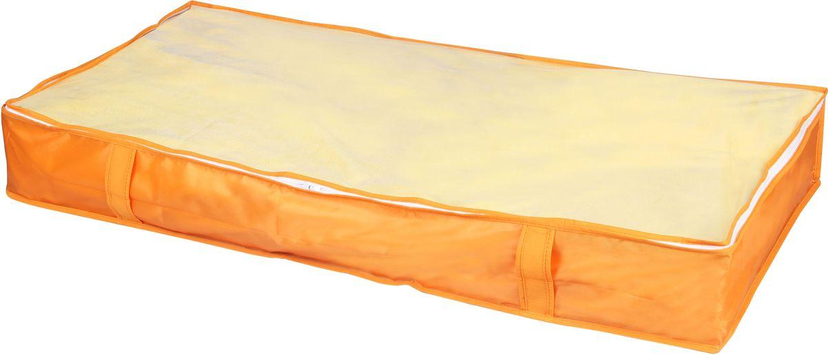 Кофр для хранения Handy Home Апельсин, 107 х 46 х 15 смUC-36Кофр для хранения Handy Home - удлиненный. В таком кофре удобно хранить постельные принадлежности, сезонную одежду и другие вещи. Кофр снабжен прозрачным окошком, что позволяет легко просматривать содержимое. Закрывается на застежку-молнию.