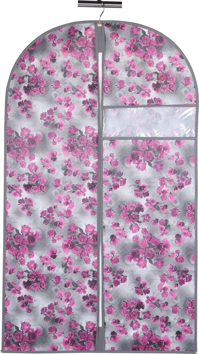 Чехол для одежды Handy Home Роза, цвет: серый, фиолетовый, 60 х 100 см ползунки наша мама ползунки
