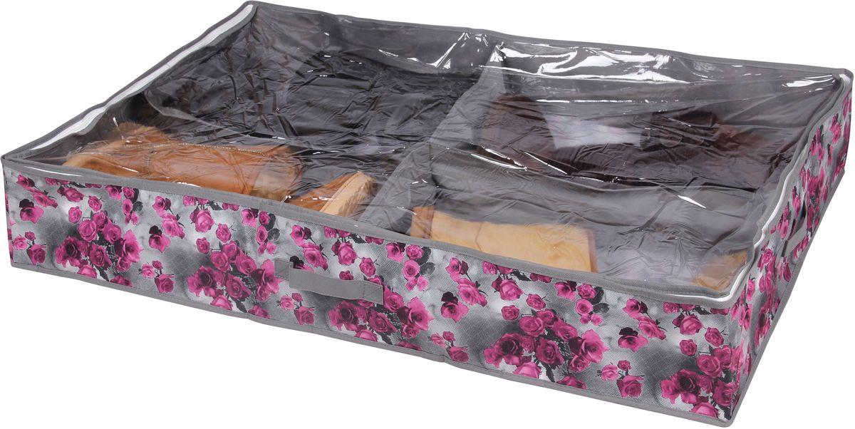 Короб для хранения обуви Handy HomeРоза, 4 секции, 94 х 60 х 15 смUC-55Короб для хранения Handy Home - складной с секциями. Занимает минимум места в сложенном виде. Подходит для хранения обуви и других вещей. Короб снабжен прозрачным окошком, что позволяет легко просматривать содержимое.
