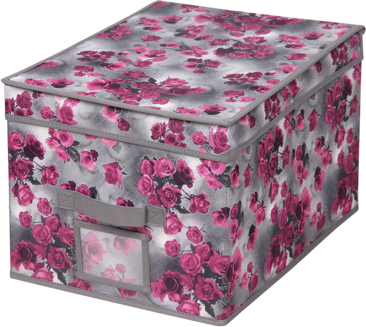 Короб для хранения Handy Home Роза, складной, с крышкой, 40 х 50 х 25 смUC-61Короб для хранения Handy Home Роза - прямоугольный складной короб с крышкой. Занимает минимум места в сложенном виде. Естественная вентиляция: материал позволяет воздуху свободно проникать внутрь, не пропуская пыль. Подходит для хранения одежды, обуви, мелких предметов, документов и многого другого.Размер: 40 х 50 х 25 см.