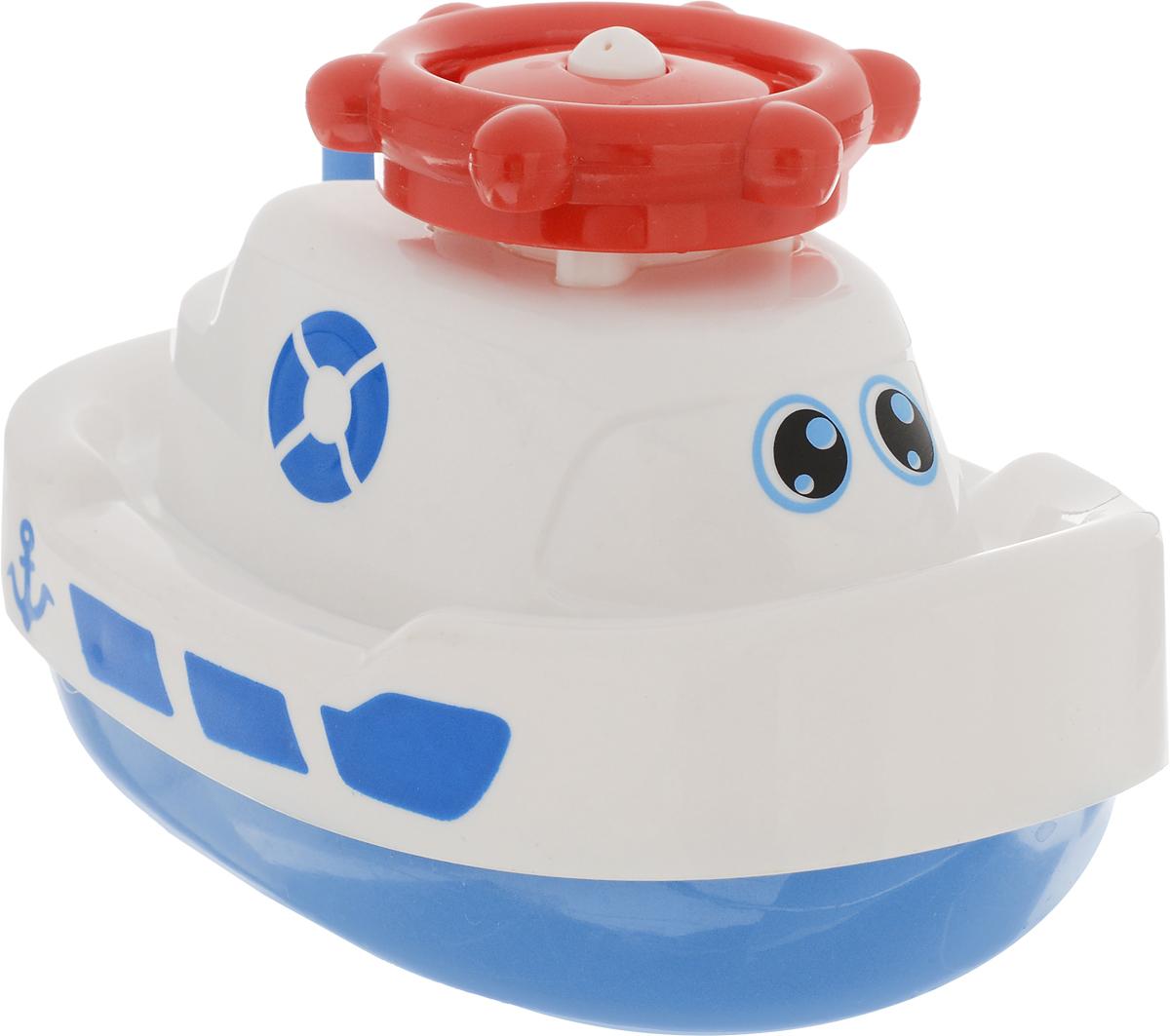 ABtoys Игрушка для ванной Кораблик-фонтан цвет белый