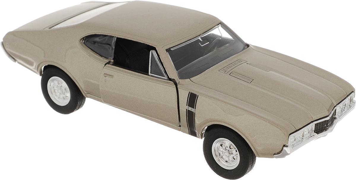 Welly Модель автомобиля Oldsmobile 442 1968 цвет бежевый 1968 год пражская весна историческая ретроспектива