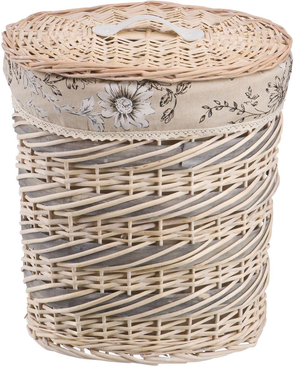 Корзина для белья Natural House  Цветы. Фиалка , цвет: молочный, 39 х 27 х 45 см - Корзины для белья