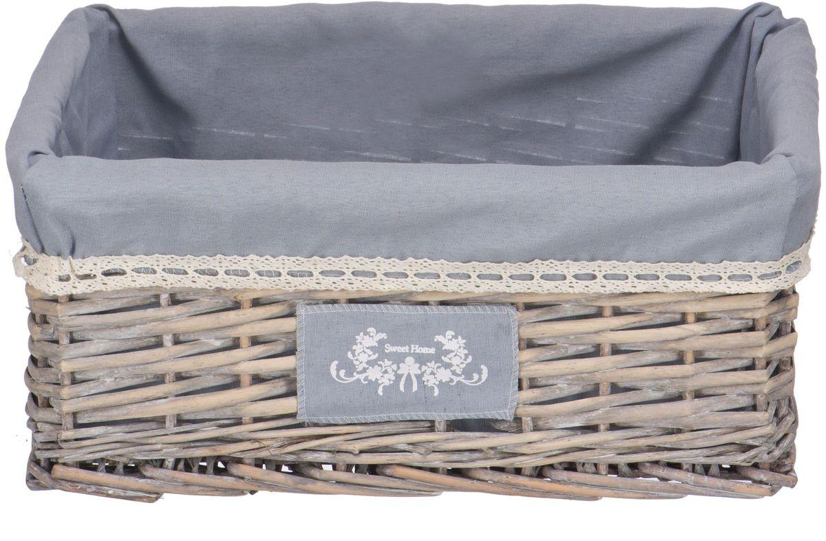 Органайзер для хранения Natural House Лен, цвет: серый, 40 х 31 х 17 см