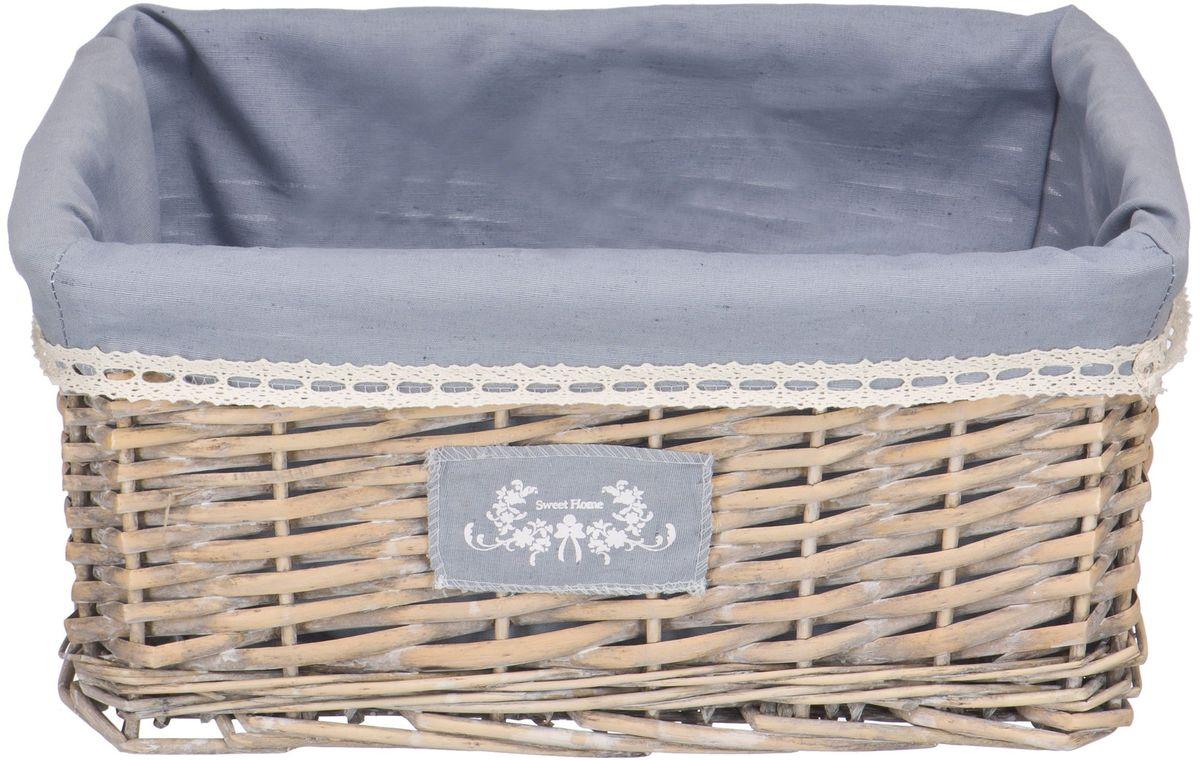 """Стеллажная корзина Natural House """"Лен"""" занимает минимум  места и идеально вписывается в любой интерьер. Чехол из  ткани легко снимается и стирается. При изготовлении корзины  используются только натуральные материалы, прошедшие  антибактериальную обработку."""