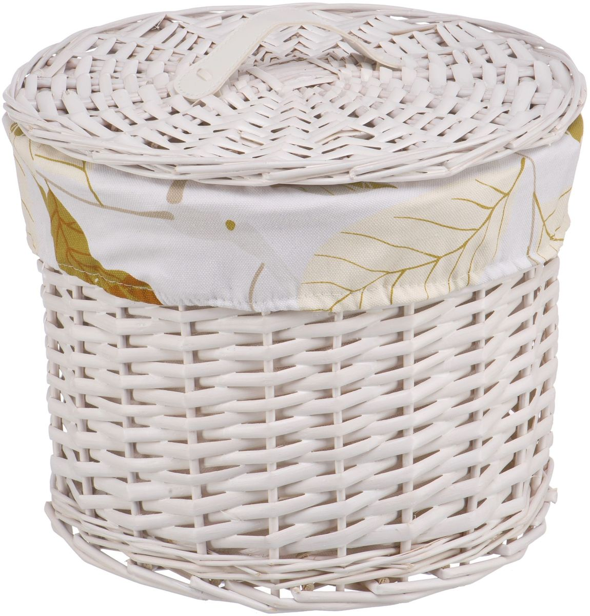 Корзина для белья Natural House  Листья , цвет: белый, 30 х 30 х 25 см - Корзины для белья