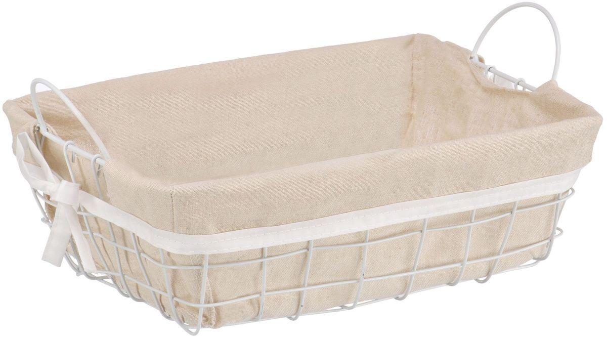 """Прямоугольная бельевая корзина """"Handy Home"""" сделана из металла. В комплекте с корзиной идет съемный чехол с бантиком который легко снимается и стирается. Корзина предназначена для хранения вещей и декоративного оформления помещения."""