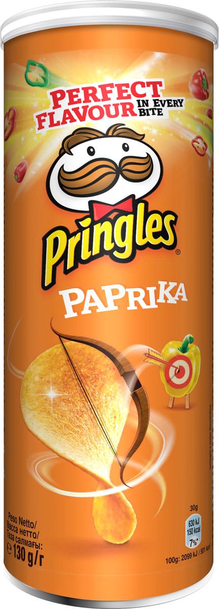 Pringles картофельные чипсы со вкусом паприки, 130 г конфэшн минутки вафли со вкусом сливок айриш крим 165 г