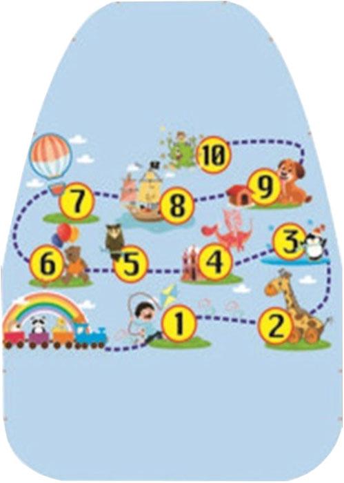 Защита сиденья от грязных ног Антей Цифры, цвет: голубой, желтый, 62 х 46 смА-520Накидка Антей Цифры защищает спинку переднего сиденья автомобиля от возможных загрязнений ногами. Выполнена из прочного ПВХ. Подходит длялюбого автокресла, фиксируется при помощи двух резинок, закрепляемых на автомобильное кресло. Накидка позволяет экономить на генеральной уборкесалона.Размер накидки: 62 х 46 см.