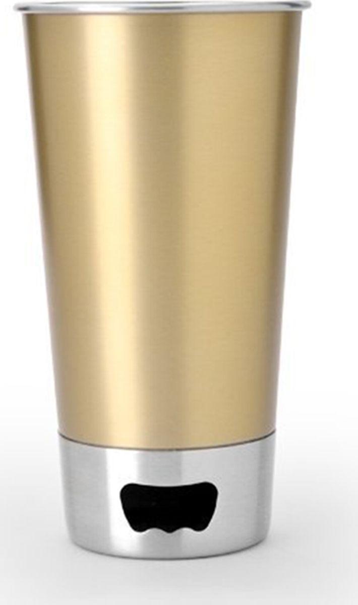 Стакан Asobu  Brew cup opener , цвет: золотистый, 550 мл - Туристическая посуда