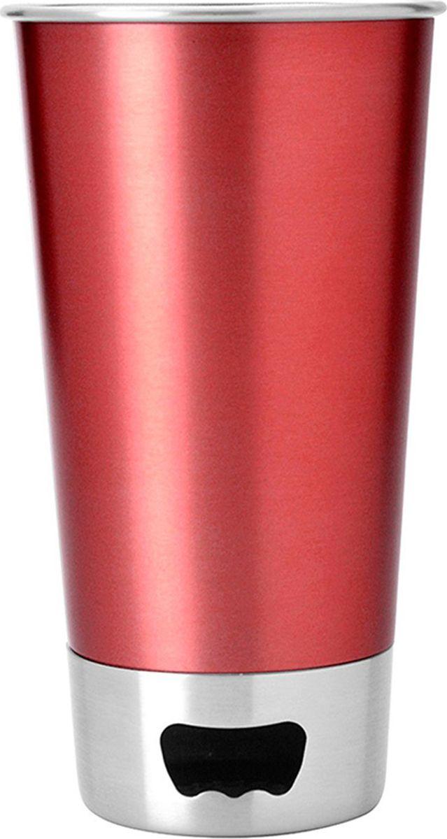 Стакан Asobu  Brew cup opener , цвет: красный, 550 мл - Туристическая посуда