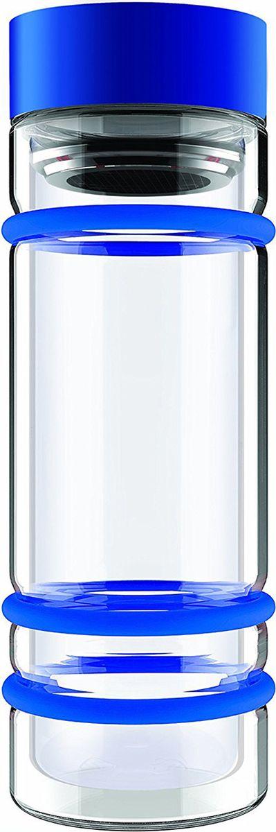Бутылка Asobu Bumper bottle, цвет: голубой, 400 мл2512676Бутылка Asobu Bumper bottle с двойными стеклянными стенками, ситечком и яркими силиконовыми бамперами. Идеальна для завариваниясамыхвкусных чаев!Asobu никогда не использует бесполезных деталей. В Bumper bottle силиконовые кольца использованы не только ради придания яркого внешнеговида бутылке, они составляют важную функциональную составляющую - защиту бутылки при падении.Инструкция по применению:Снимите крышку бутылки. Засыпьте чай в ситечко. Наполните бутылку горячей водой. Подождите 2-3 минуты пока чай заварится.Материал: Стекло Высота : 22,5 см Диаметр : 8,5 см