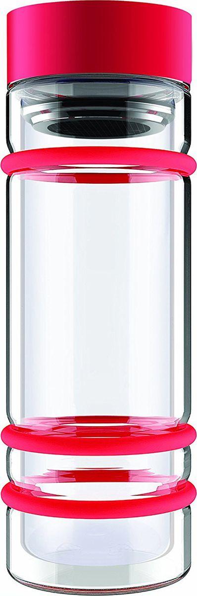 Бутылка Asobu Bumper bottle, цвет: красный, 400 млDWG12 redБутылка Asobu Bumper bottle с двойными стеклянными стенками, ситечком и яркими силиконовыми бамперами. Идеальна для заваривания самых вкусных чаев!Asobu никогда не использует бесполезных деталей. В Bumper bottle силиконовые кольца использованы не только ради придания яркого внешнего вида бутылке, они составляют важную функциональную составляющую - защиту бутылки при падении.Инструкция по применению:Снимите крышку бутылки.Засыпьте чай в ситечко.Наполните бутылку горячей водой.Подождите 2-3 минуты пока чай заварится.Материал: СтеклоВысота : 22,5 смДиаметр : 8,5 см