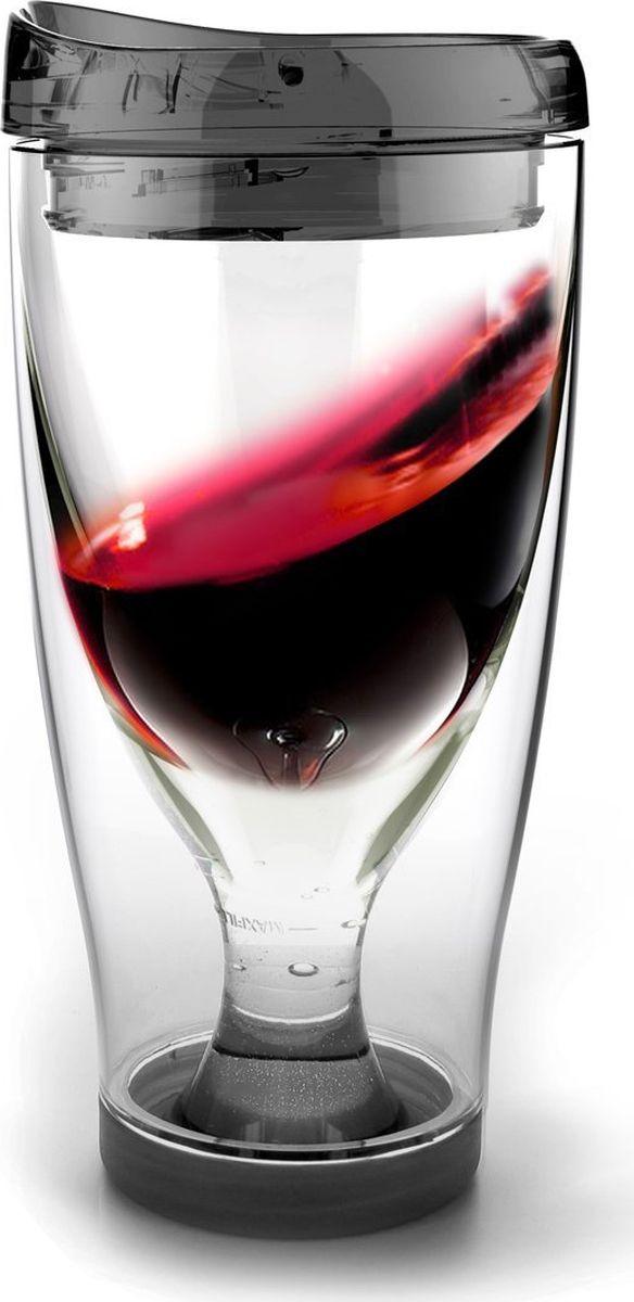 Термокружка Asobu Ice vino 2go, цвет: черный, 480 млIV2G blackТермокружка Asobu Ice vino 2go охлаждает вино пока вы его пьете и сохраняет ваши вина идеальной температуры даже в жаркий солнечный день. Идеален для использования дома, отдыха на природе, баре.Откройте крышку, заполните емкость ледяной водой по рекомендуемую метку, переверните бокал и налете любимое вино. Чтобы взять с собой, закройте стакан крышкой и вперед.Материал: ПластикВысота (см): 18.5Диаметр (см): 9