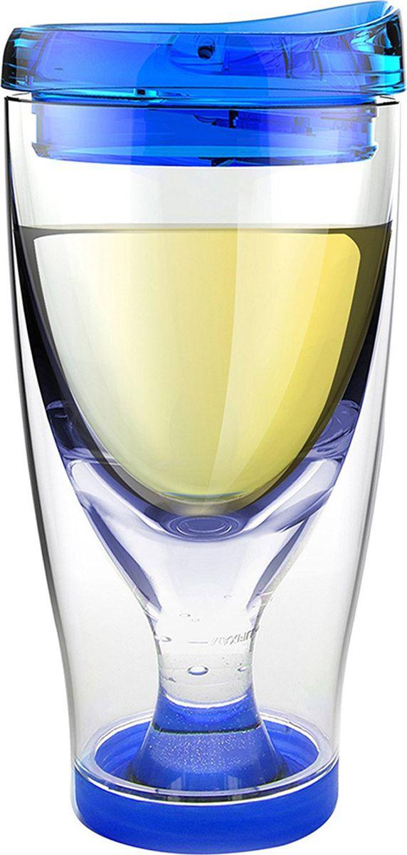 Стакан Asobu Ice vino 2go, цвет: голубой, 480 млIV2G blueСтакан Asobu Ice vino 2go охлаждает вино пока вы его пьете и сохраняет ваши вина идеальной температуры даже в жаркий солнечный день. Идеален для использования дома, отдыха на природе, баре.Откройте крышку, заполните емкость ледяной водой по рекомендуемую метку, переверните бокал и налете любимое вино. Чтобы взять с собой, закройте стакан крышкой и вперед. Характеристики: Материал: пластик.Высота (см): 18,5.Диаметр (см): 9.