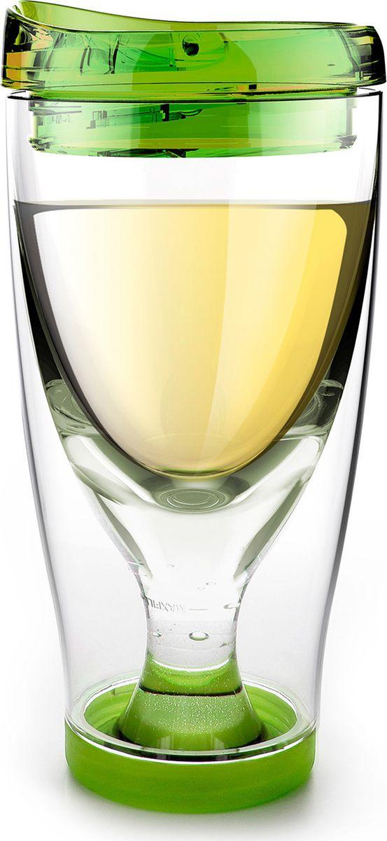 Стакан Asobu Ice vino 2go, цвет: зеленый, 480 млIV2G greenТермокружка Asobu Ice vino 2go охлаждает вино пока вы его пьете и сохраняет ваши вина идеальной температуры даже в жаркий солнечный день. Идеален для использования дома, отдыха на природе, баре.Откройте крышку, заполните емкость ледяной водой по рекомендуемую метку, переверните бокал и налете любимое вино. Чтобы взять с собой, закройте стакан крышкой и вперед.Материал: ПластикВысота (см): 18.5Диаметр (см): 9