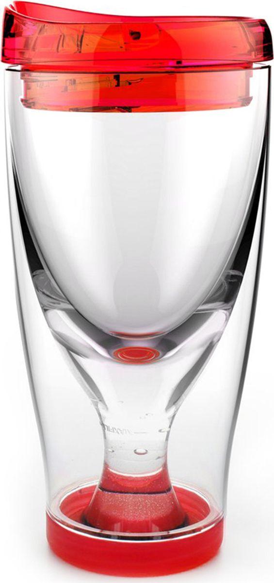 Стакан Asobu Ice vino 2go, цвет: красный, 480 млIV2G redТермокружка Asobu Ice vino 2go охлаждает вино пока вы его пьете и сохраняет ваши вина идеальной температуры даже в жаркий солнечный день. Идеален для использования дома, отдыха на природе, баре.Откройте крышку, заполните емкость ледяной водой по рекомендуемую метку, переверните бокал и налете любимое вино. Чтобы взять с собой, закройте стакан крышкой и вперед.Материал: ПластикВысота (см): 18.5Диаметр (см): 9