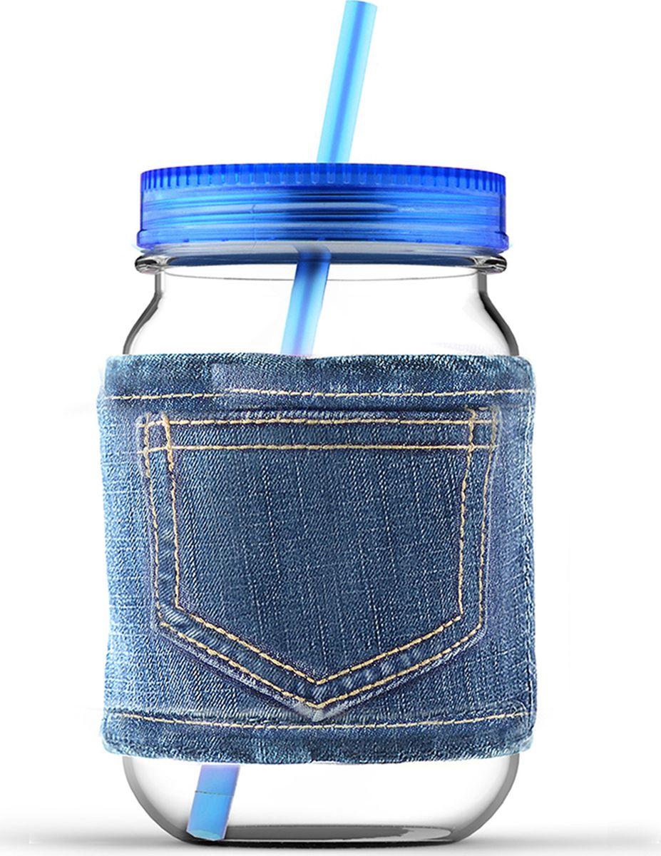 Кружка Asobu Jeans jar, цвет: голубой, 750 млMJ05 blueКружка Asobu Jeans jar для молодых и стильных! Кружки от Asobu ярких и сочных цветов для Ваших самых любимых напитков. Эту кружку многое выделяет среди остальных. Во-первых, ее форма, согласитесь, кружка в виде банки, это оригинально! Во-вторых, ее цвет, который не может не обратить на себя внимания - яркий и сочный, отлично подойдет для любого сезона. В-третьих, необычный джинсовый чехол, который позволит пить Вам даже горячие напитки, не обжигая рук, а также сохранит напиток горячим дольше. Особенности: Съемный джинсовый чехол.Соломинка в комплекте.Крышка в комплекте.750 мл.