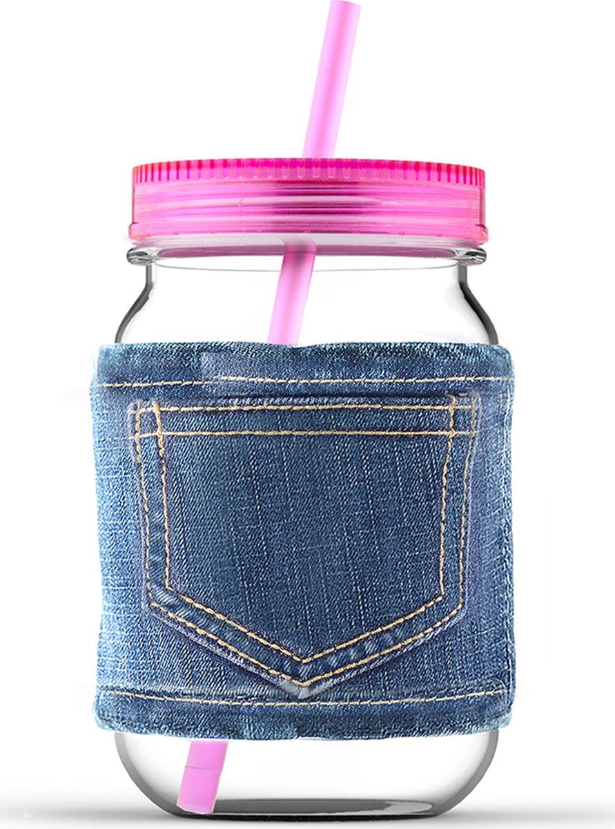 Кружка Asobu Jeans jar, цвет: розовый, 750 млMJ05 pinkКружка Asobu Jeans jar для молодых и стильных! Кружки от Asobu ярких и сочных цветов для Ваших самых любимых напитков. Эту кружку многое выделяет среди остальных. Во-первых, ее форма, согласитесь, кружка в виде банки, это оригинально! Во-вторых, ее цвет, который не может не обратить на себя внимания - яркий и сочный, отлично подойдет для любого сезона. В-третьих, необычный джинсовый чехол, который позволит пить Вам даже горячие напитки, не обжигая рук, а также сохранит напиток горячим дольше. Особенности: Съемный джинсовый чехол.Соломинка в комплекте.Крышка в комплекте.750 мл.