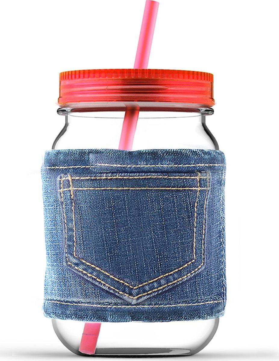 Кружка Asobu Jeans jar, цвет: красный, 750 млMJ05 redКружка Asobu Jeans jar для молодых и стильных! Кружки от Asobu ярких и сочных цветов для Ваших самых любимых напитков. Эту кружку многое выделяет среди остальных. Во-первых, ее форма, согласитесь, кружка в виде банки, это оригинально! Во-вторых, ее цвет, который не может не обратить на себя внимания - яркий и сочный, отлично подойдет для любого сезона. В-третьих, необычный джинсовый чехол, который позволит пить Вам даже горячие напитки, не обжигая рук, а также сохранит напиток горячим дольше. Особенности: Съемный джинсовый чехол.Соломинка в комплекте.Крышка в комплекте.750 мл.