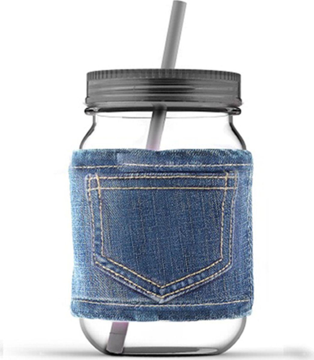 Кружка Asobu Jeans jar, цвет: серый, 750 мл бутылка asobu ice t 2 go цвет фиолетовый 400 мл