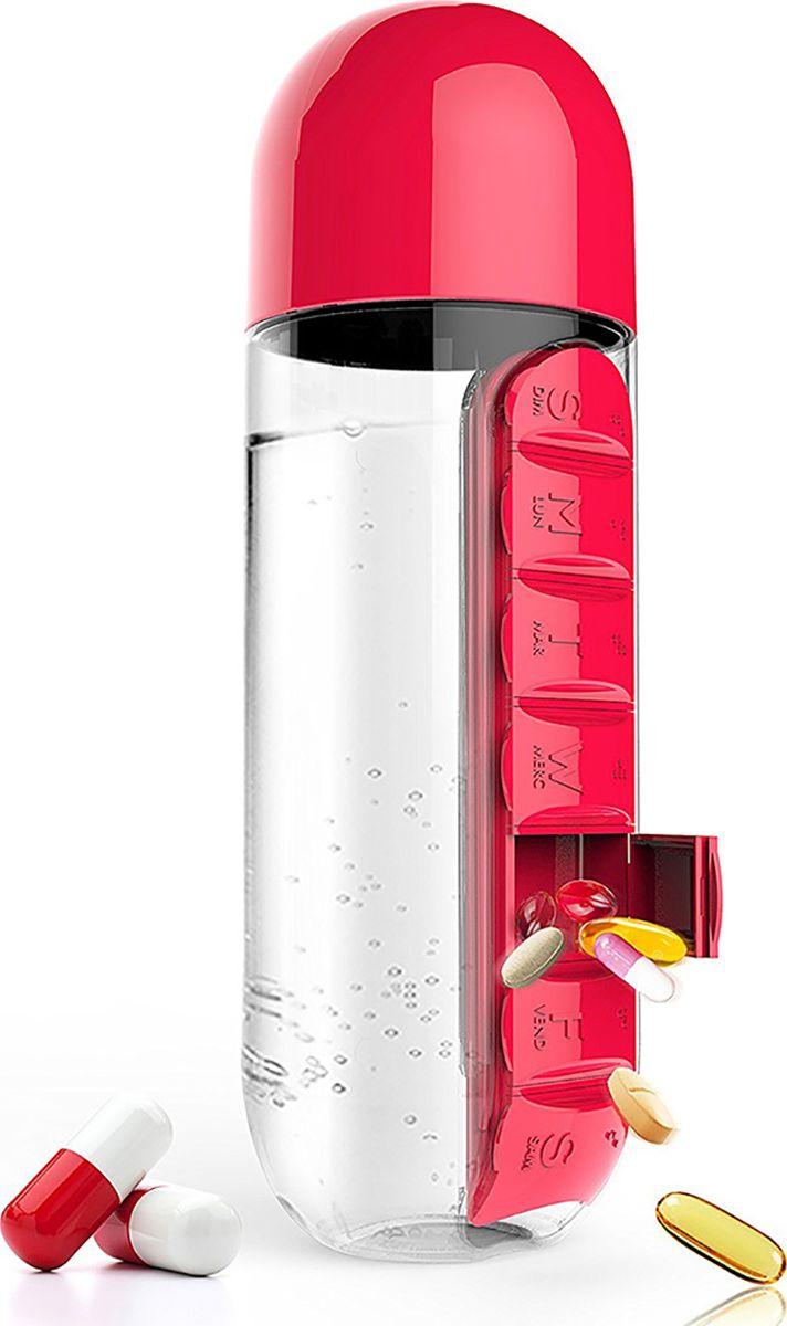 Бутылка Asobu In style pill organizer bottle, цвет: красный, 600 млPB55 redБутылка Asobu In style pill organizer bottle заинтересует вас с первого взгляда. Все потому, что «In Style» - бутылка воды в сочетании с органайзером для таблеток. С таким аксессуаром Вам больше не нужно будет искать воду, чтобы принять необходимые лекарства. Бутылка «In Style» - практичный и современный способ сохранить ваши таблетки и воду вместе. Это особенно удобно, если Вы находитесь в дороге.Умная бутылка воды «In Style» оснащена встроенным органайзером для медикаментов с семью разделами. Если же Вам не нужен в данный момент органайзер, Вы можете легко его снять, просто сдвинув и потянув в сторону.Особенности:Органайзер для таблеток.Крышка бутылки может быть использована, как кружка для запивания лекарств.Коробка.Материал: ПластикВысота : 24 смДиаметр : 8 см