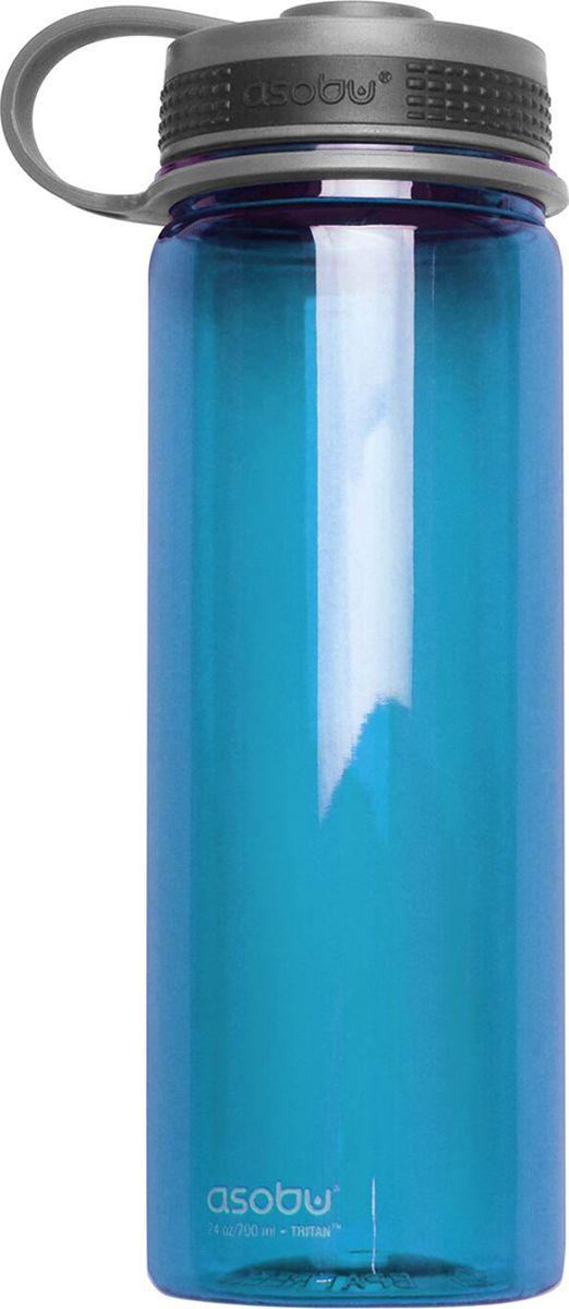 Бутылка Asobu Pinnacle sport bottle, цвет: голубой, 720 мл бутылка asobu ice t 2 go цвет фиолетовый 400 мл