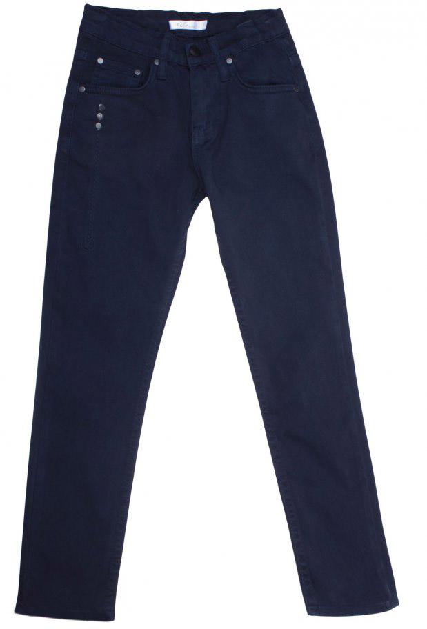 Брюки для мальчика Vitacci, цвет: синий. 1171457-04. Размер 1461171457-04Стильные брюки-джинсы для мальчика от Vitacci выполнены из вискозы и нейлона с добавлением эластана. Модель застегивается на гульфик с молнией и пуговицу. Пояс дополнен шлевками для ремня. Брюки имеют спереди два втачных кармана и один небольшой накладной кармашек. Карманы отделаны клепками.