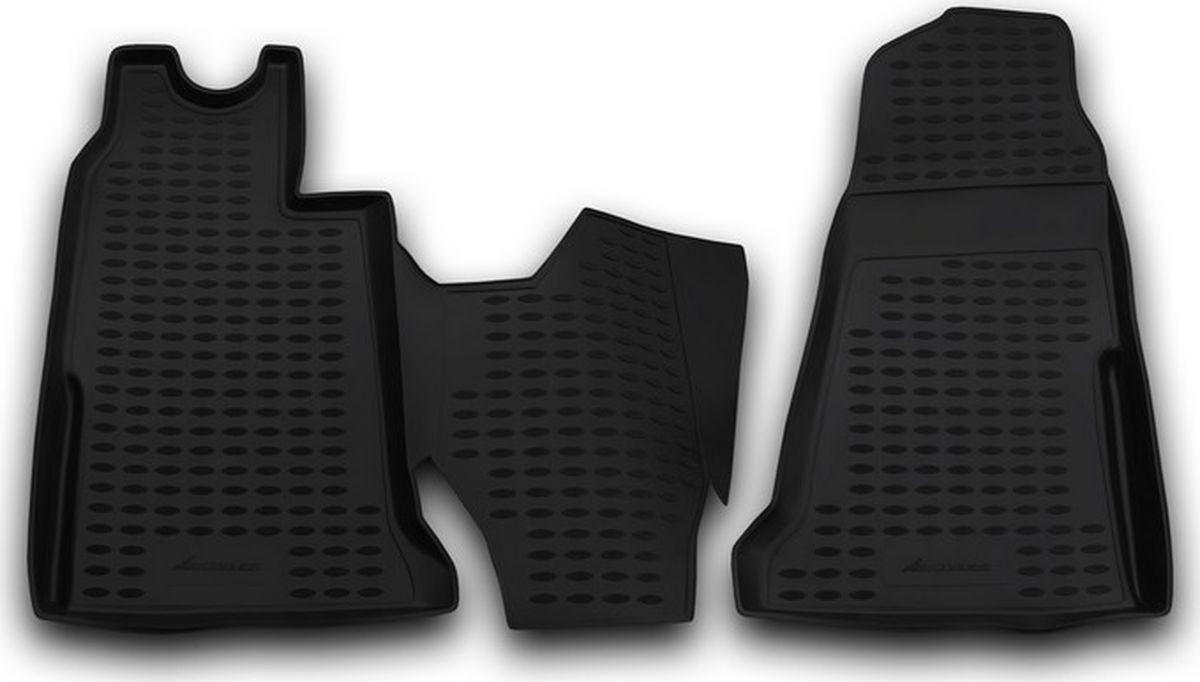 Коврики в салон автомобиля Novline-Autofamily, для Ford Transit МКПП, 2006-2014, 2 штNLC.16.19.210Качественный продукт, новый полимерный материал, антискользящий рельеф, идеальная форма, гигиенические сертификаты. Надежные коврики для вашего автомобиля.