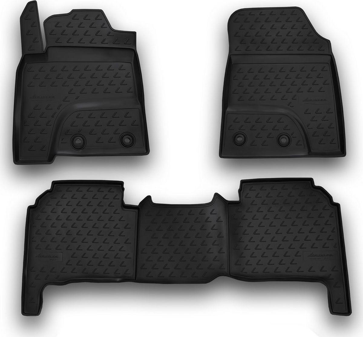 Коврики в салон автомобиля Novline-Autofamily, для Lexus LX570, 2012->, 5 мест, 3 штNLC.29.20.210kКачественный продукт, новый полимерный материал, антискользящий рельеф, идеальная форма, гигиенические сертификаты. Надежные коврики для вашего автомобиля.