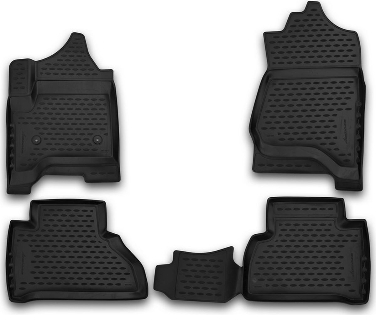 Коврики в салон автомобиля Novline-Autofamily 3D, для Chevrolet Tahoe, 2015->, 4 штNLC.3D.08.31.210kКачественный продукт, новый полимерный материал, антискользящий рельеф, идеальная форма, гигиенические сертификаты. Надежные коврики для вашего автомобиля.