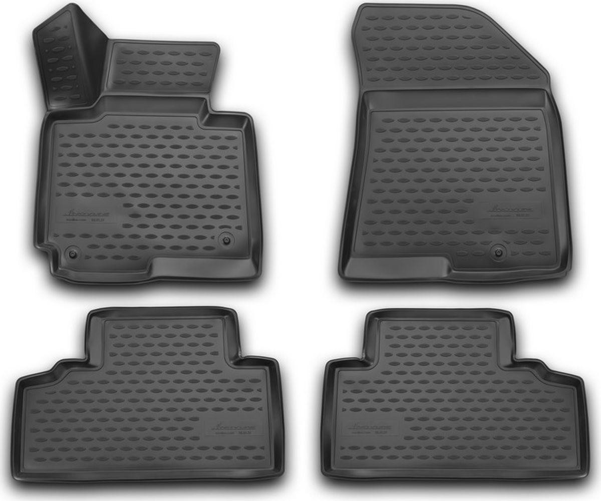 Коврики в салон автомобиля Novline-Autofamily 3D, для Kia Carens, 2013->, 4 штNLC.3D.25.51.210Качественный продукт, новый полимерный материал, антискользящий рельеф, идеальная форма, гигиенические сертификаты. Надежные коврики для вашего автомобиля.