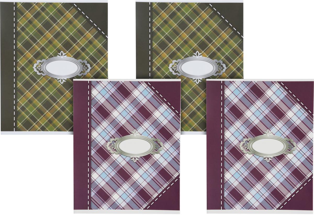 Action! Набор тетрадей Шотландка 48 листов в линейку 4 шт00-00035182Набор Action! Шотландка включает в себя 4 тетради формата А5.Обложка каждой тетради изготовлена из картона с УФ-лакированием. Внутренний блок каждой тетради состоит из 48 листов в линейку.