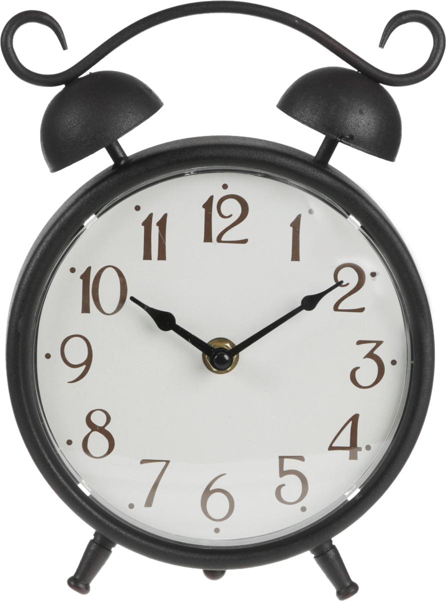 Часы настольные Miralight Будильник, цвет: черный, античная медьML-5123 Antique copper Часы настольные Будильник малыйНастольные часы Miralight Будильник, изготовленные из металла, прекрасно украсят интерьер вашего помещения. Часы, выполненные в модном стиле ретро, имеют массивный металлический корпус и декорированы элементом художественной ковки. Циферблат круглой формы имеет две стрелки: часовую и минутную и элегантные арабские цифры. Часы-будильник не позволят вам опоздать на важную встречу или совещание. На задней панели часов есть регуляторы для установки времени, будильника. Питание осуществляется от одной батарейки типа АА (не входит в комплект). Оформите свой дом таким интерьерным аксессуаром или преподнесите его в качестве презента друзьям, и они оценят ваш оригинальный вкус и неординарность подарка.